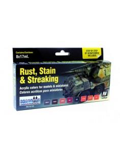 Vallejo 70183 Model Color Set - Rust, Stain & Streaking
