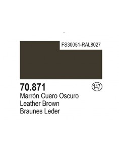 Vallejo (147) 70871 MODEL COLOR Leather Brown 17ml